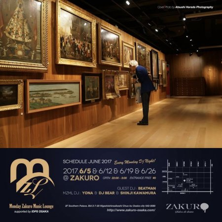 Monday Zakuro Music Lounge フライヤー表
