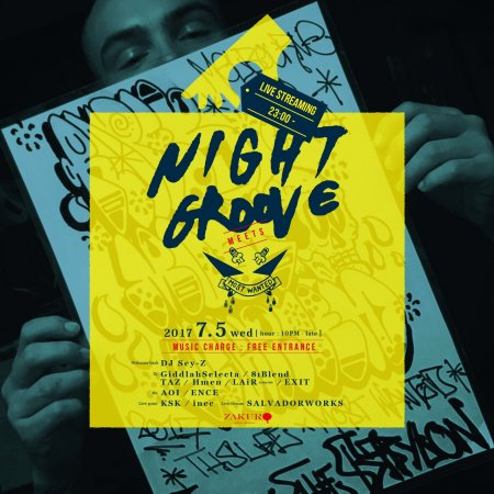 NIGHT GROOVE meets.MOST フライヤー表